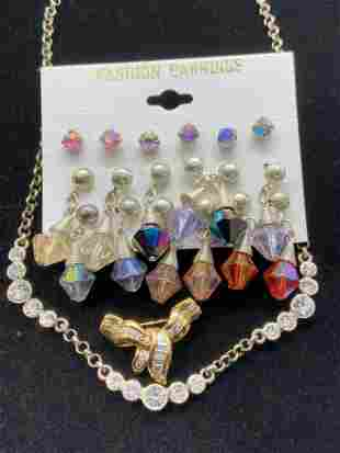 Lot 3 RHINESTONE Jewelry, Signed CLAIRES & More