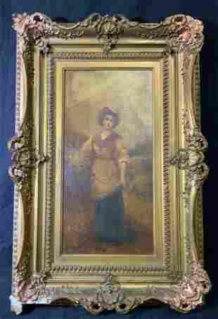 LIPPO Signed Oil Painting Canvas Portrait Artwork
