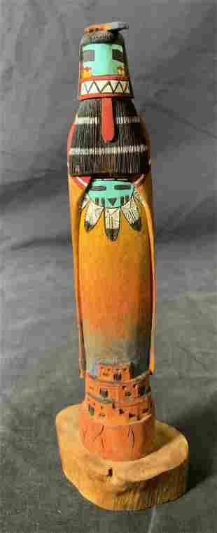 ROBERT HARRIS Signed Hopi Kachina Sculpture