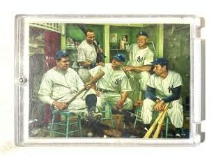 New York Yankee Greats Baseball Card