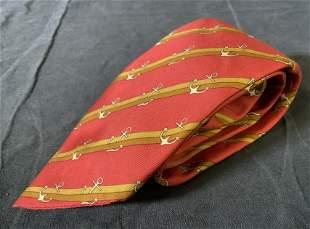 Red HERMÈS Silk Men's Tie