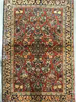 Handmade Vintage Oriental Wool Rug