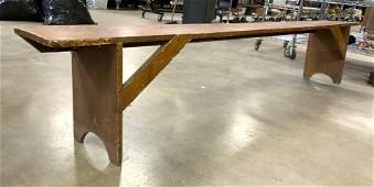 Antique Hand Crafted Wooden Bench