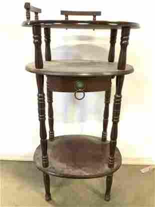 Vintage Wooden Wash Stand W Drawer