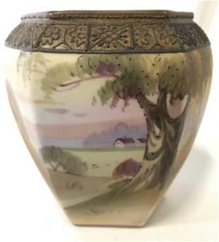 NIPPON Hand Painted Vintage Porcelain Vase