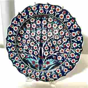 Hallmarked Hand Painted ceramic Wall Plate