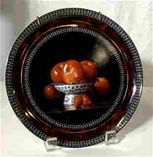 BERNARDAUD LIMOGES SIGNED 'POMMES' Plate
