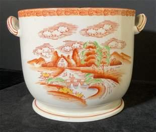 MEPOCO Signed Vntg Asian Porcelain Cachepot