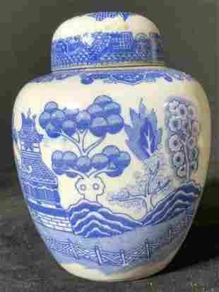 Collect Blue & White Asian Porcelain Ginger Jar