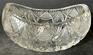 Cut Crystal Sloped Fruit Bowl