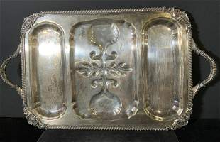 Oversized ENGLISH SILVER PLATED Serving Tray