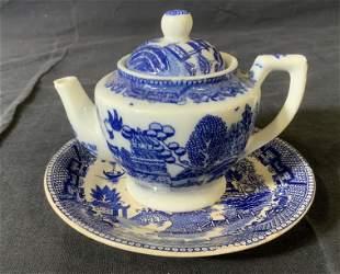 Japanese Ceramic Teapot & Saucer