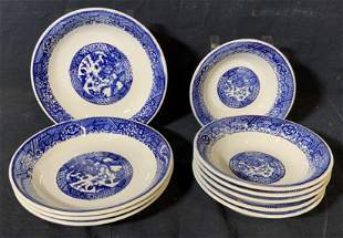 Asian Porcelain Group Lot 6 Bowls & 4 Dishes