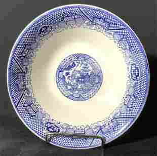 Collectible Asian Blue & White Porcelain Bowl