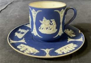 Vintage WEDGWOOD Jasperware Teacup & Saucer