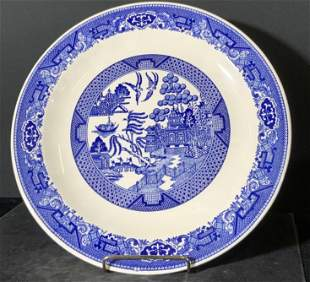 BLUE WILLOW BY ROYAL Signed Ceramic Dish