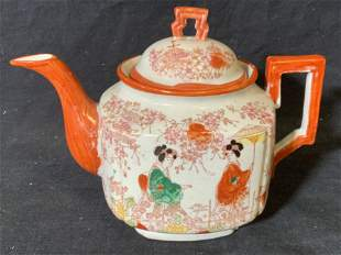 Hand Painted Japanese Porcelain Teapot