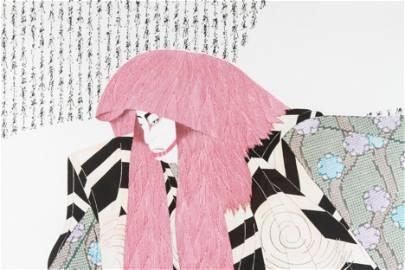 "Hisashi Otsuka ""Red Lion"" Collotype"
