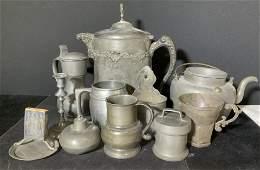 Group 11 Vintage Pewter & Metalware Accessories