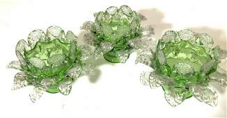 Set 3 Hand Blown Vintage Glass Light Adornments