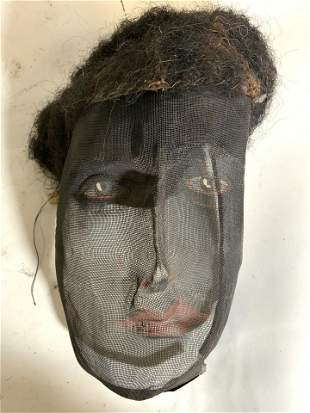 Vintage Hand Painted Netted Mask