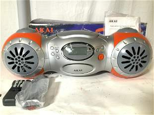 Org Box AKAI CD STEREO Boom Box, Not Used