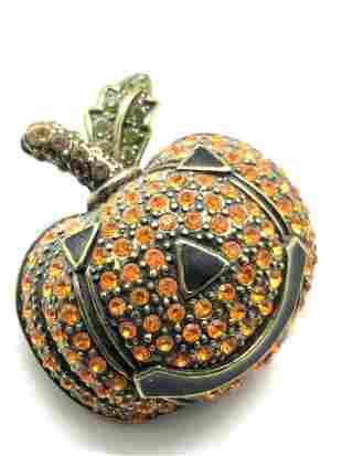 HEIDI DAUS Crystal Jack O' Lantern Brooch, Jewelry