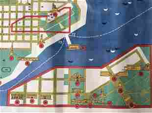 Vintage Lithograph Map of Odessa Russia