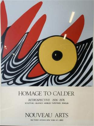 Serigraph Gallery Poster Homage to Calder Art