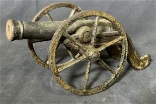 Vintage Cast Iron Cannon Figurine