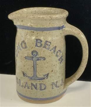 Long Beach Island Salt Glaze Jug w/ Anchor