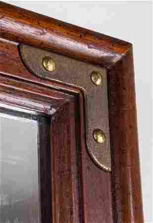 Mid-Century Modern Metal Mounted Mirror