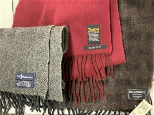 Lot 3 Luxury Lambswool & Cashmere Unisex Scarves