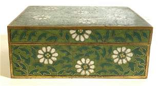 Signed Vintage Asian Enameled Trinket Box