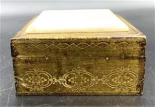 FLORENTIA Vintage Italian Gilt Wood Trinket Box