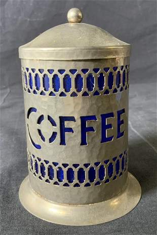 Vintage Pewter Coffee Canister