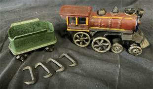 Vintage Metal Train Set