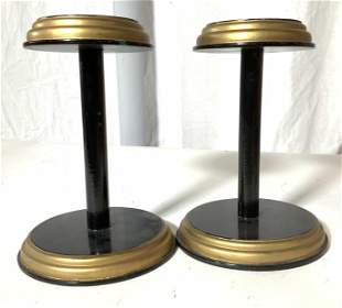 Pair Free Standing Hat/ Wig Stands