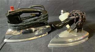 Lot 2 Vintage Clothing Irons