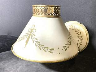 Vintage Toleware Wall Sconce W Shade
