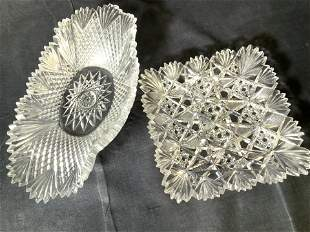 Lot 2 Lead Crystal Side Table Dishes