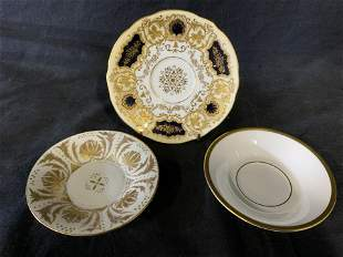 Group Lot 3 Porcelain Saucers