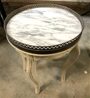 Marbled Top Vintage Cocktail Table