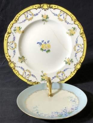 2 Porcelain Plates, MINTONS & MZ Austria