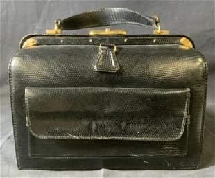 Vintage LEDERER Leather Bag, France