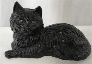 Hand Painted Cast Iron Cat Sculpture