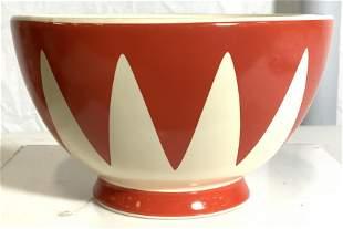 RED ENVELOPE Footed Porcelain Bowl
