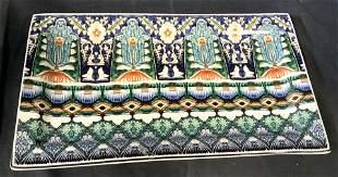 POTERY BARN Hamsa Indo China Ceramic Plate