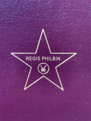REGIS PHILBIN Signed How I Got This Way 1st Ed