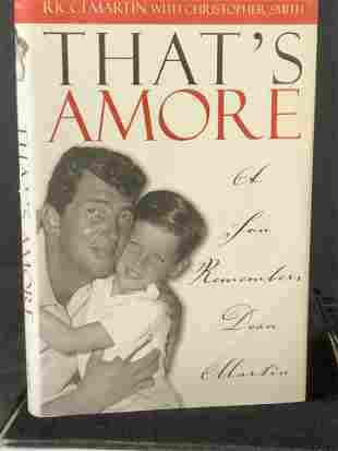 Signed Ricci Martin to REGIS PHILBIN, That's Amore